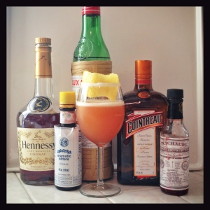 The Brandy Crusta and its ingredients