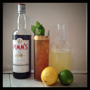 Pimm's Cup with Lemon Lime Soda base