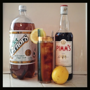 Pimm's Cup with Ginger base