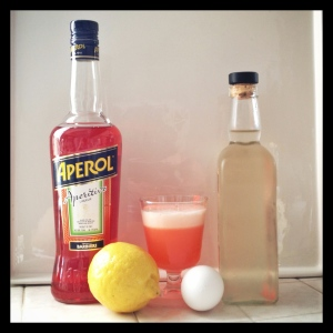 Aperol Sour & Ingredients