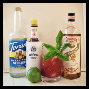 The Stormy Mai Tai and its ingredients